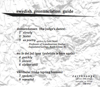 domaredansen pronunciation cd