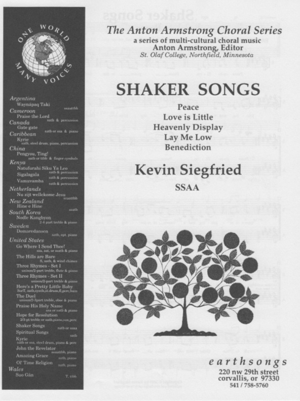 shaker songs (ssaa)