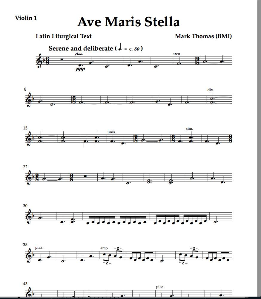 ave maris stella string orchestra parts (pdf only)