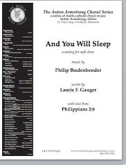 and you will sleep (satb) - Click Image to Close