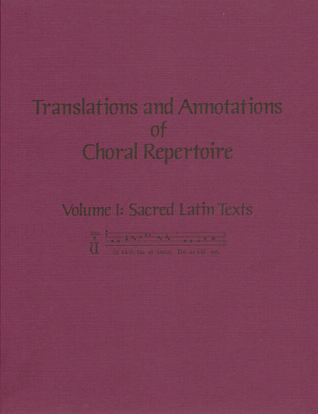 translations & annotations vol. 1 sacred latin texts (soft)