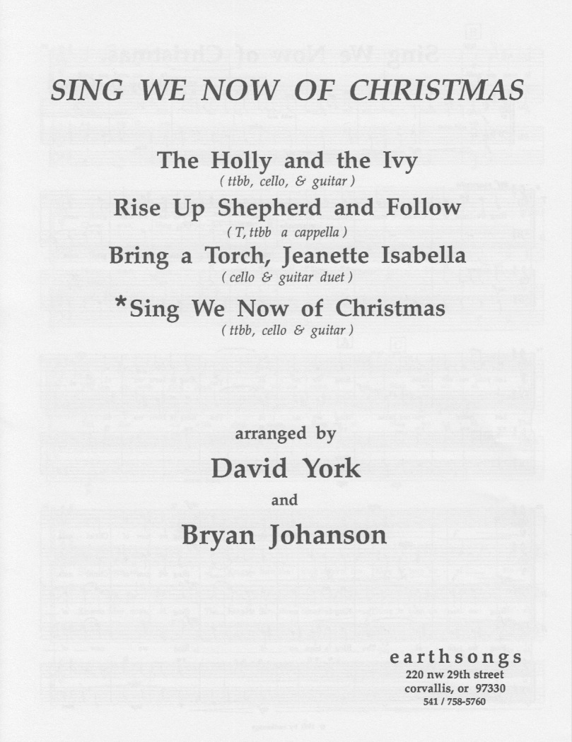 sing we now of christmas (gtr/vlc)