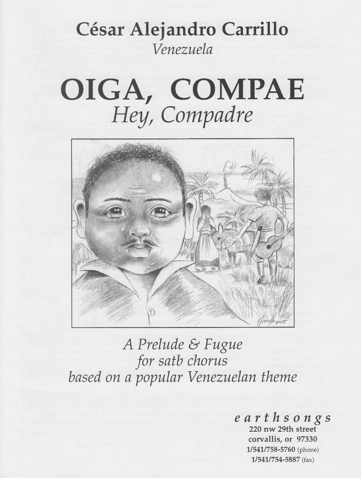 oiga, compae (satb) (pdf if ordered for entire choir)