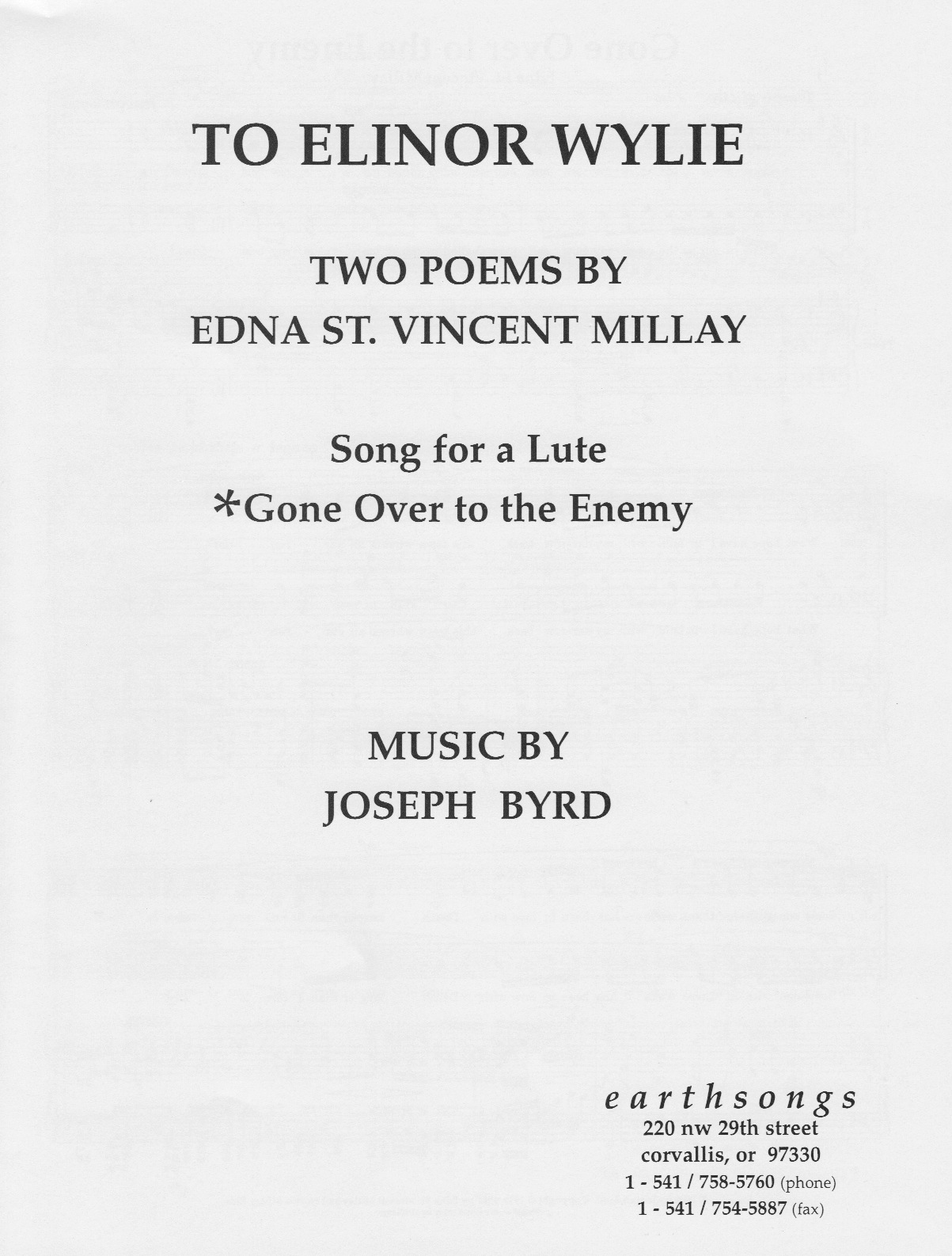 gone over to the enemy (satb)