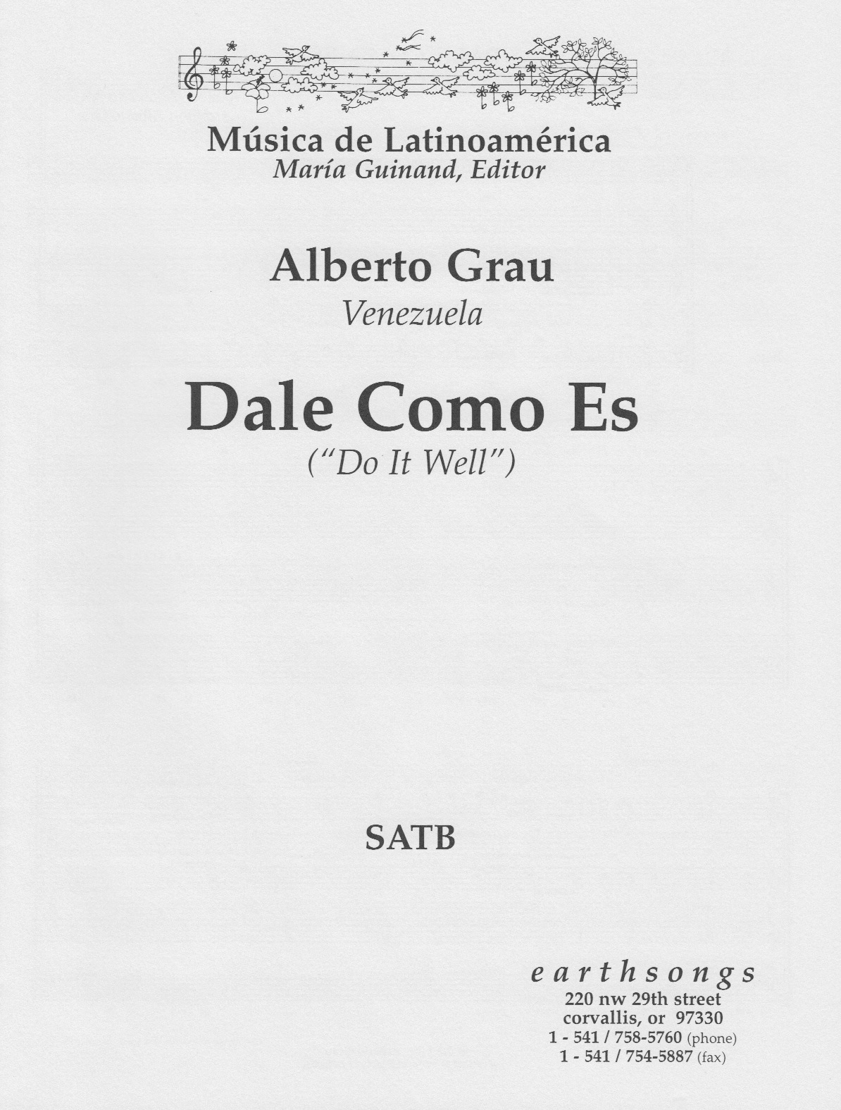 dale como es (satb) - Click Image to Close