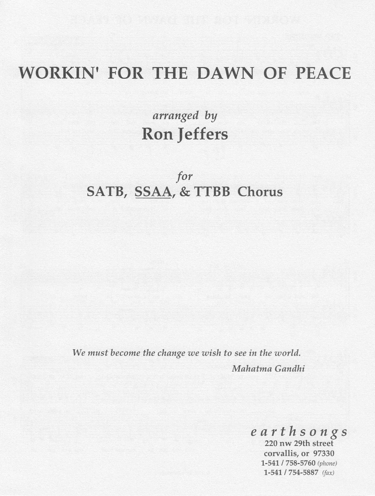 workin' for the dawn of peace (ssaa) - Click Image to Close