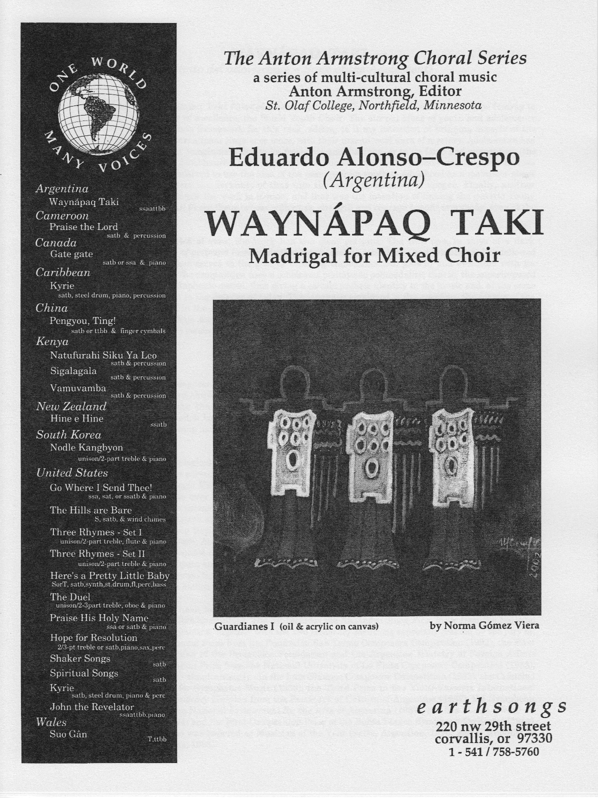 waynapaq taki (ssaattbb) (pdf if ordered for entire choir)