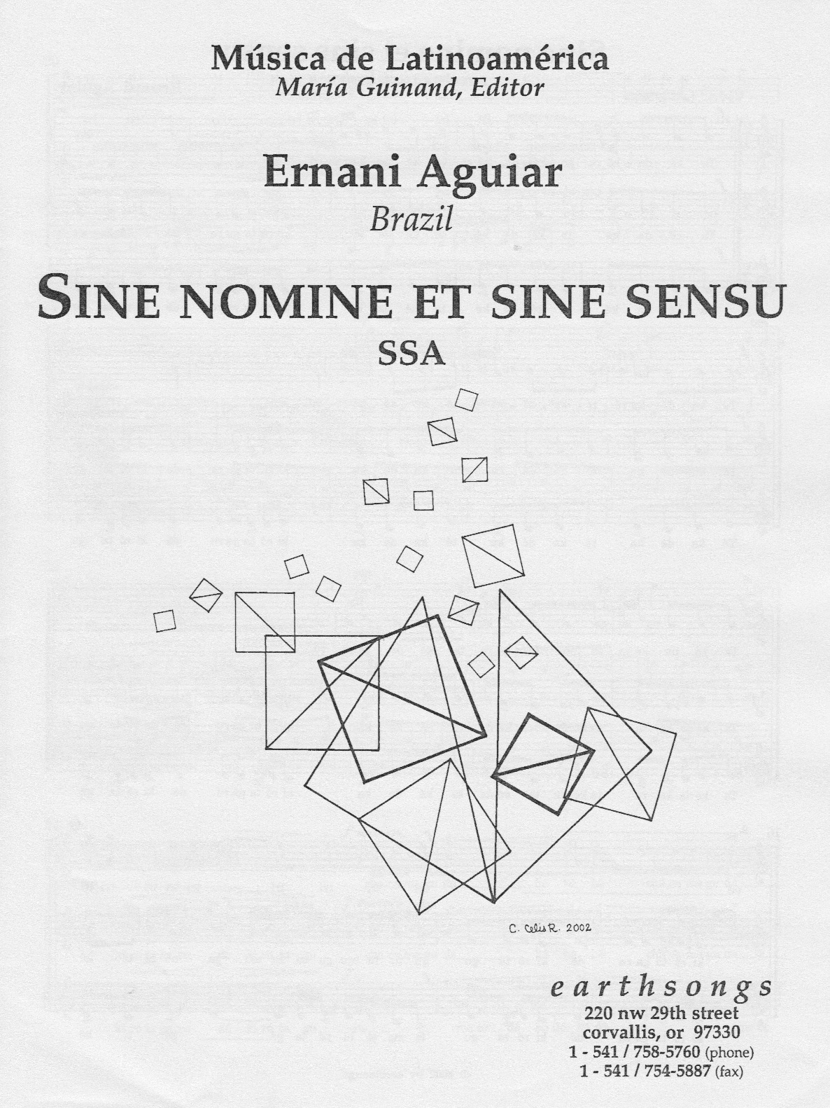 sine nomine e sine sensu (pdf if ordered for entire choir)