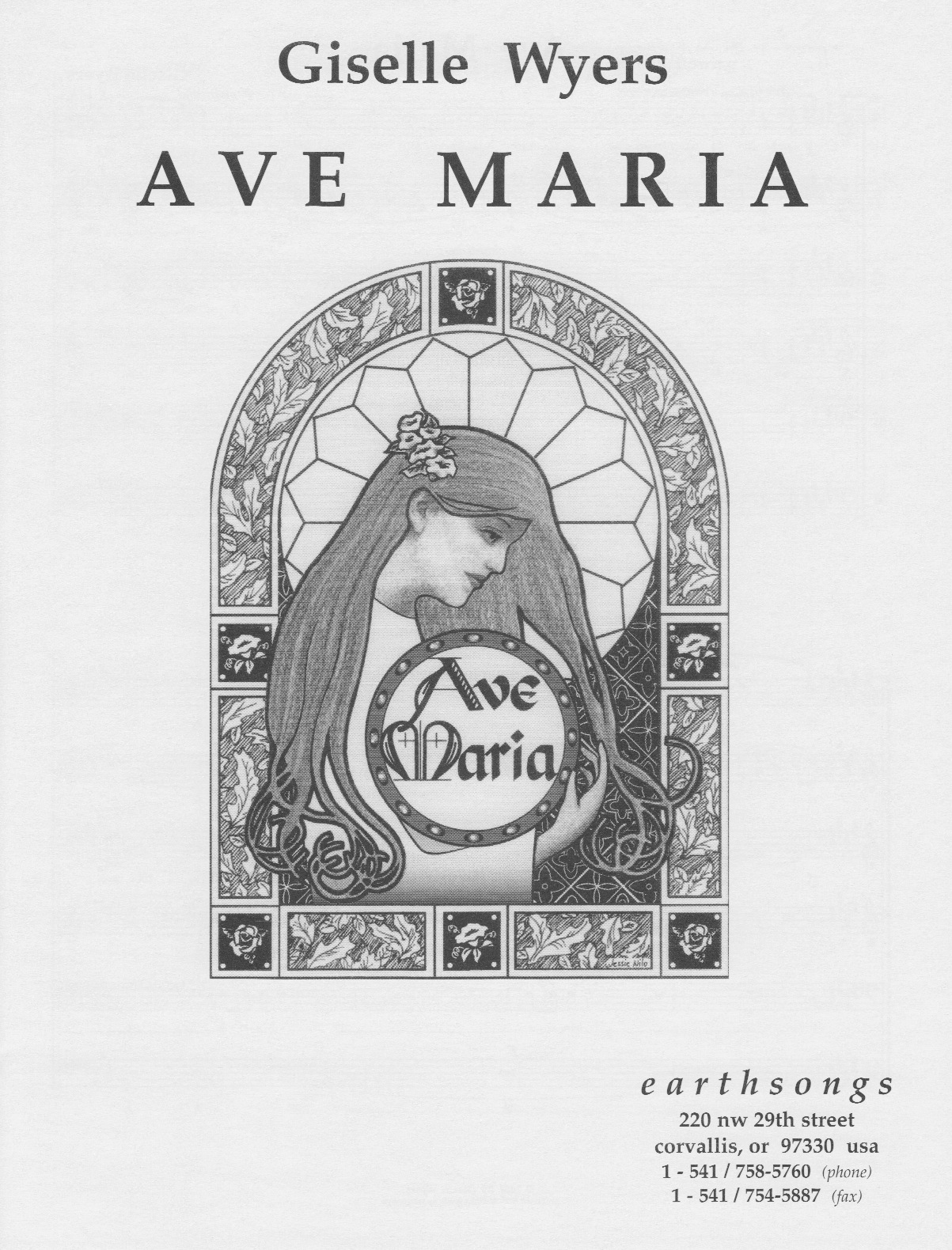 ave maria (wyers) (ssatbb)