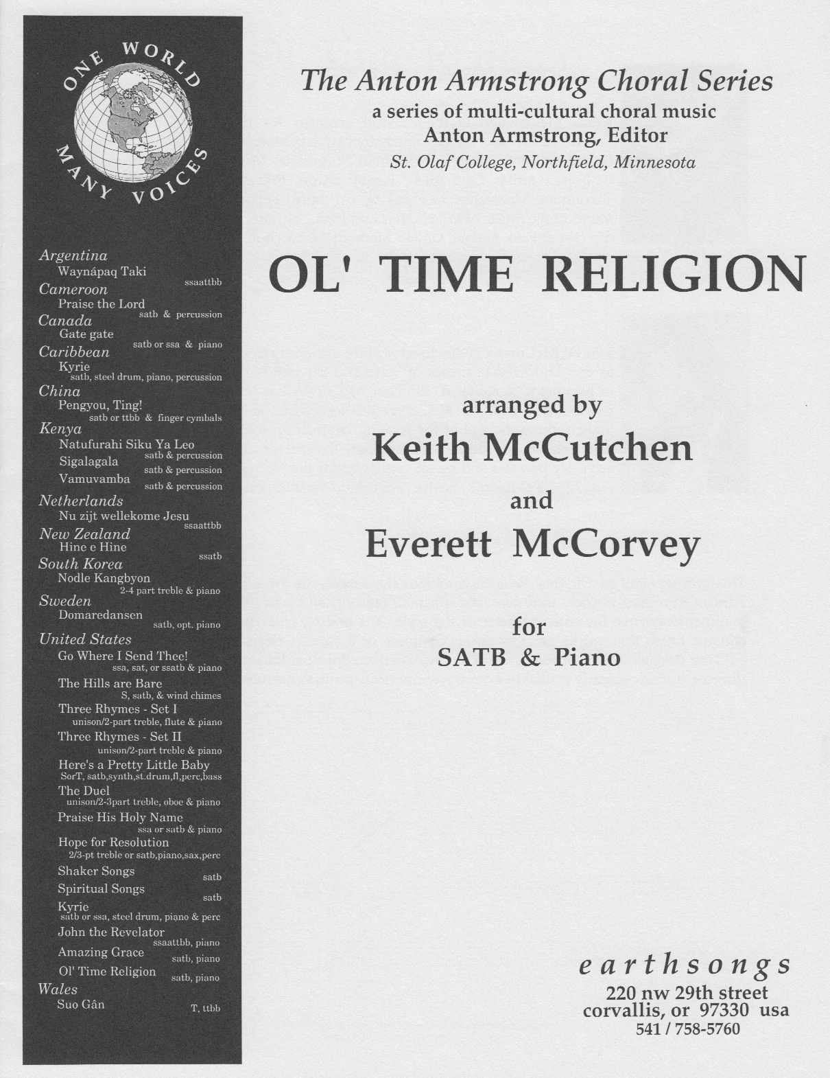 ol' time religion (satb) - Click Image to Close