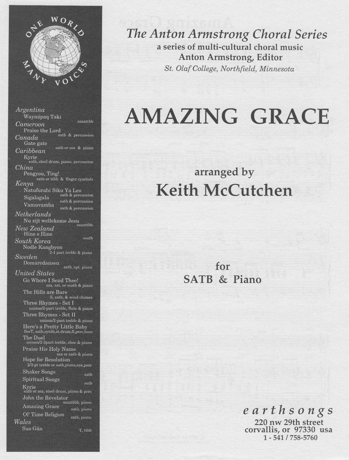 amazing grace (mccutchen) (satb)