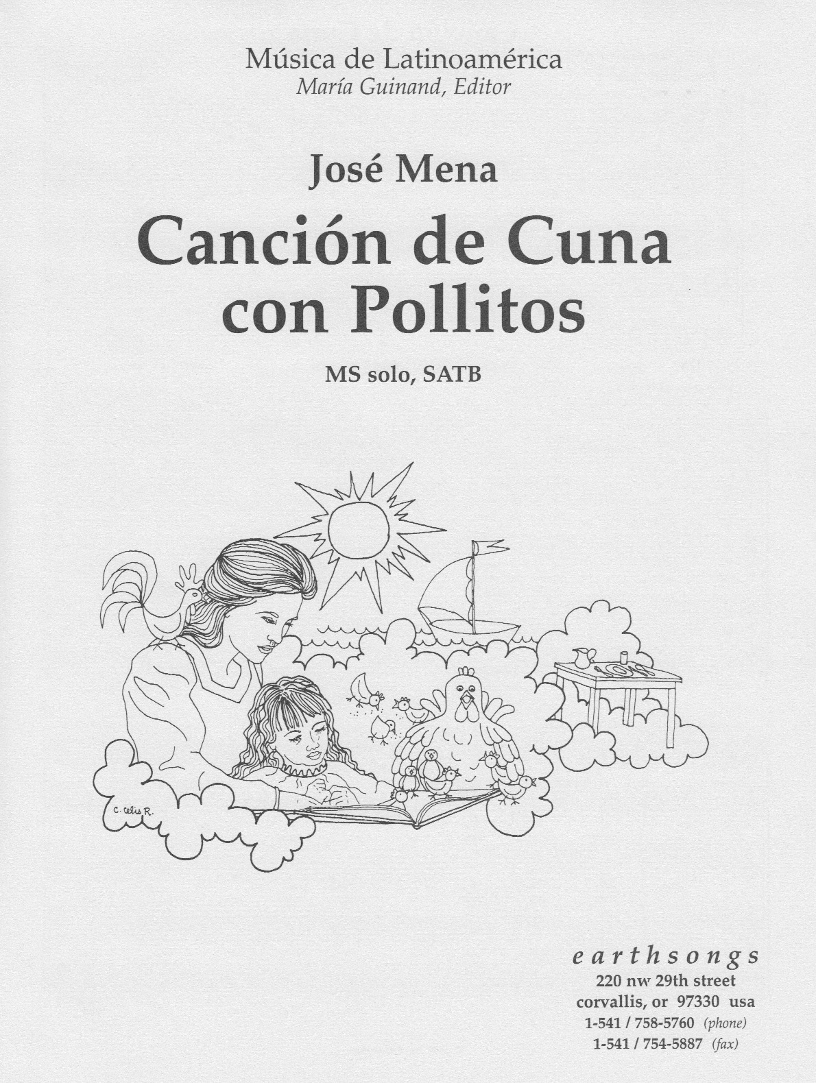 cancion de cuna con pollitos (satb)