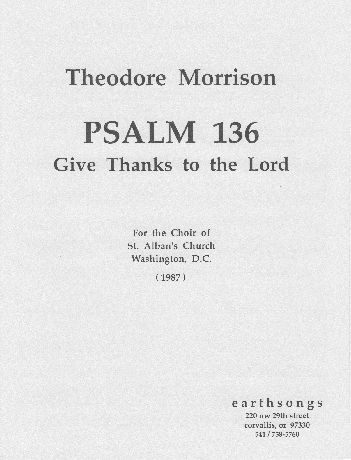 psalm 136 - give thanks (satb)