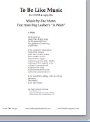 to be like music (satb)(pdf if ordered for entire choir)