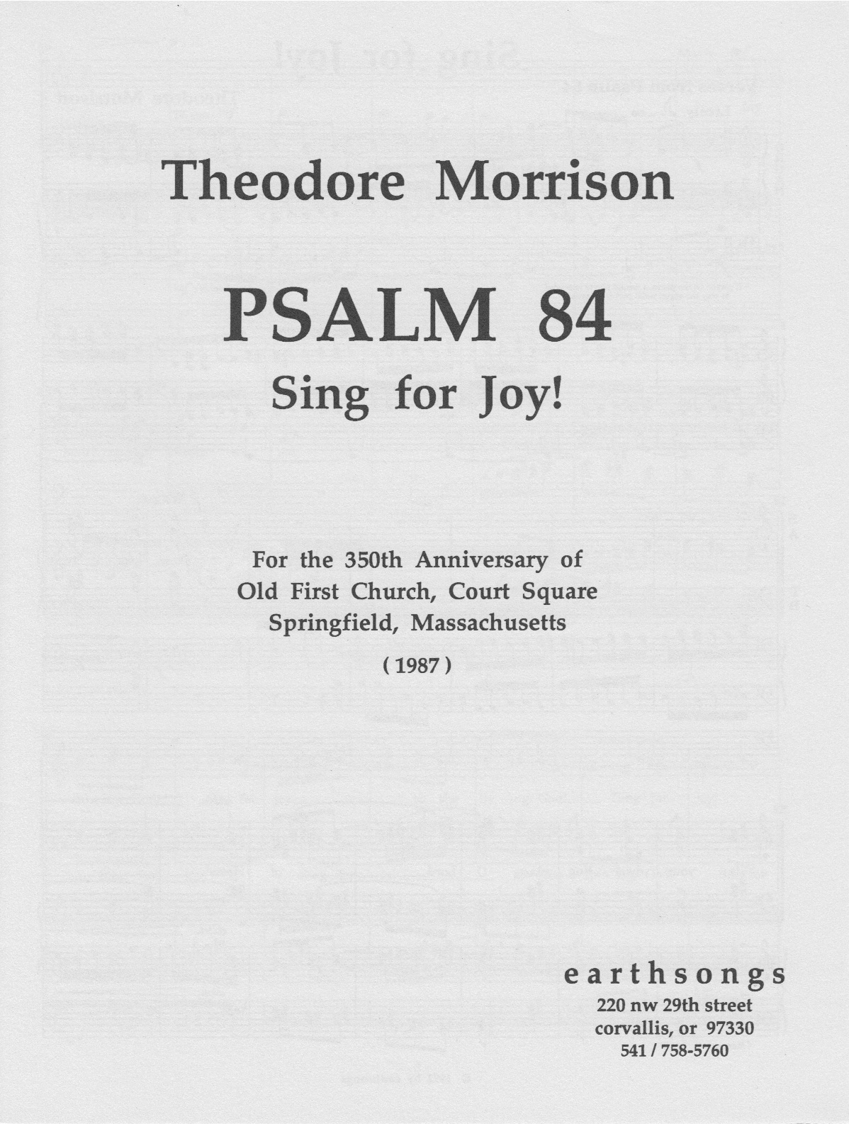 psalm 84 -sing for joy! (satb) (pdf if ordered for entire choir)