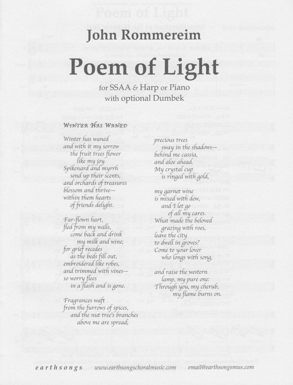 poem of light (ssaa)