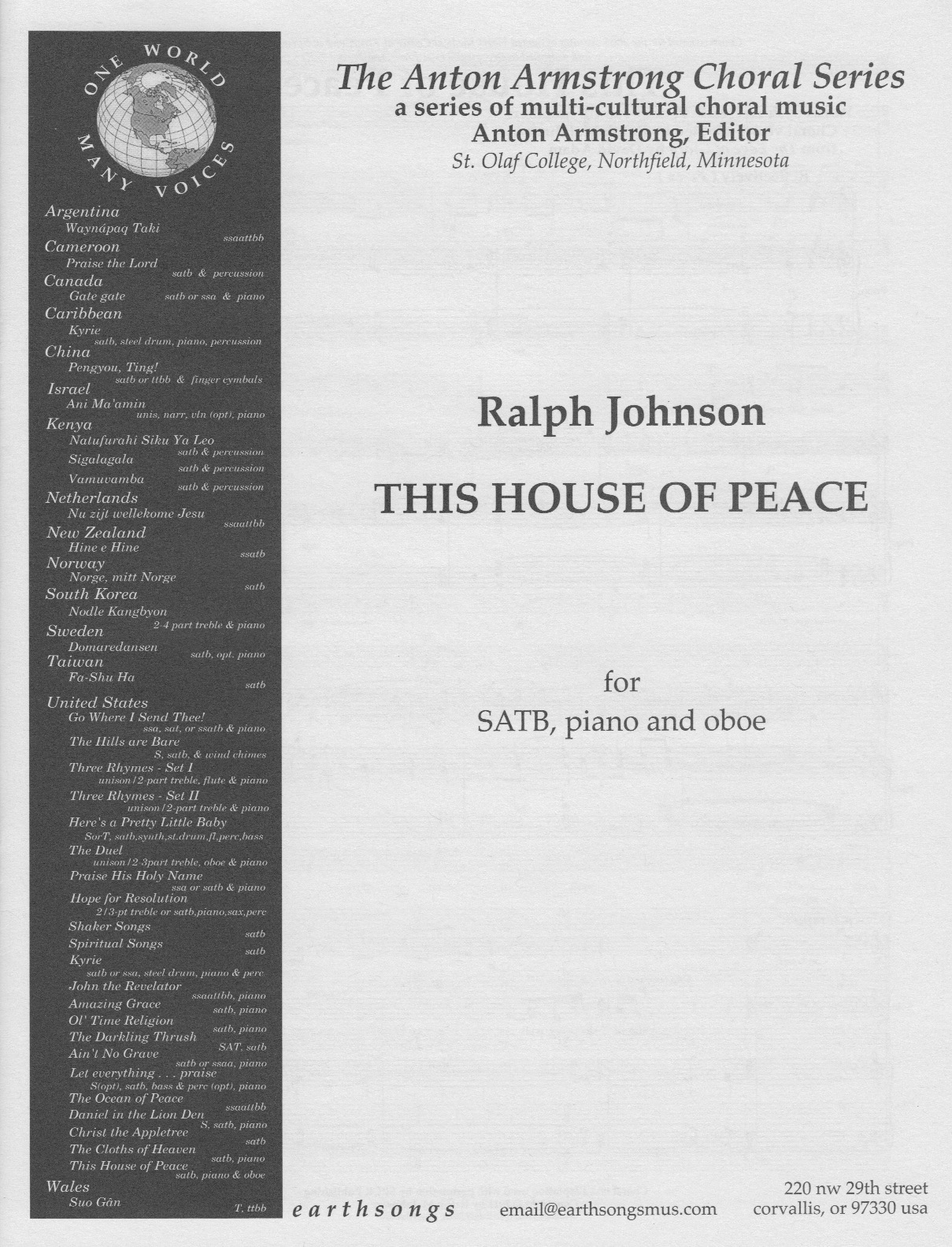 this house of peace (satb)