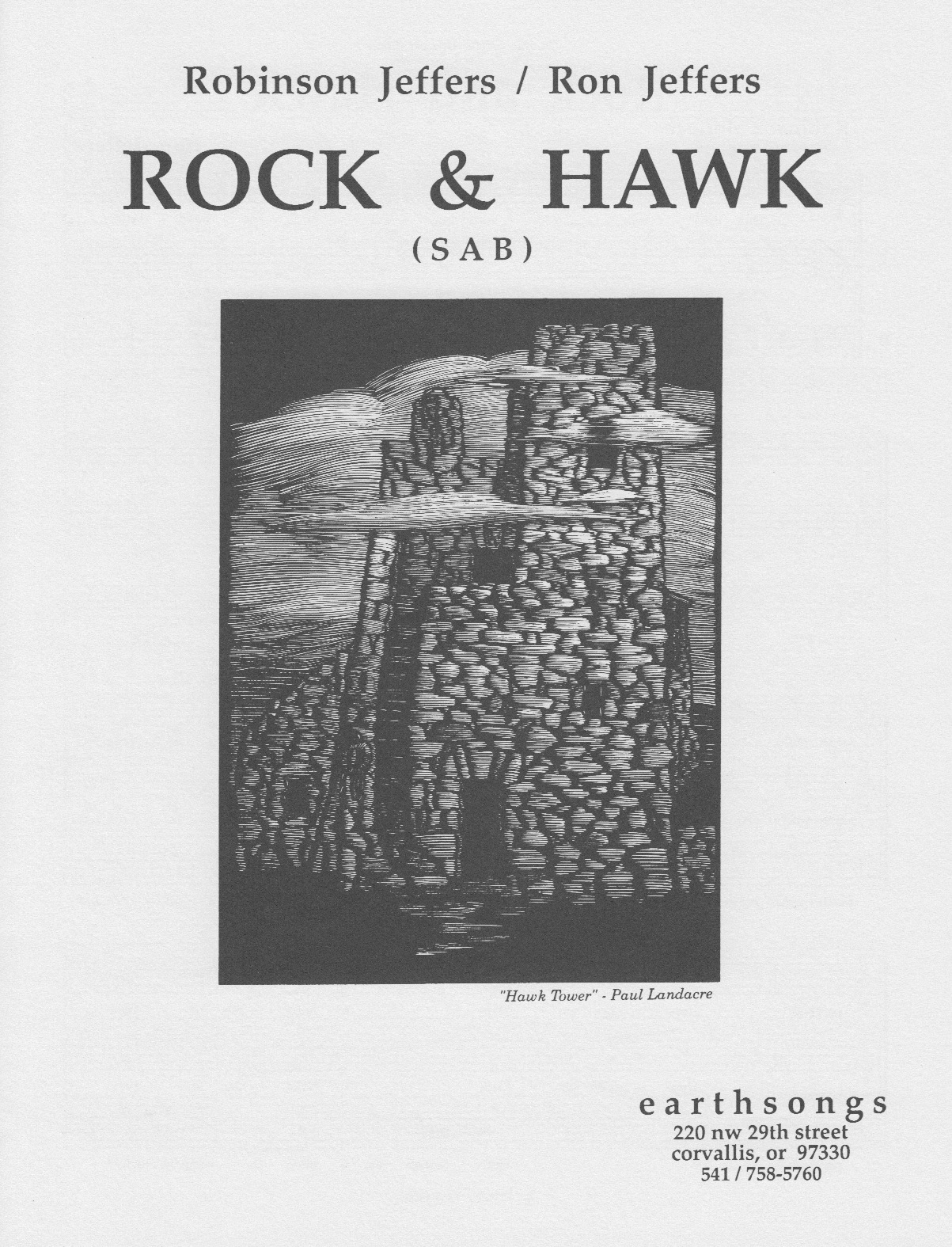 rock & hawk (sab) (pdf if ordered for entire choir)