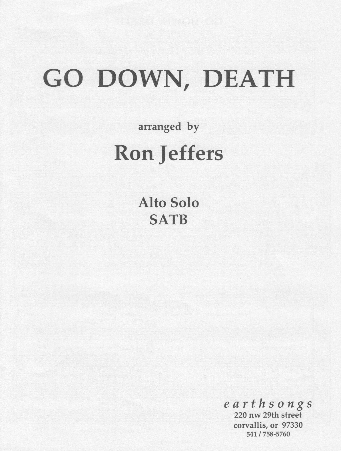 go down, death (ssattb)