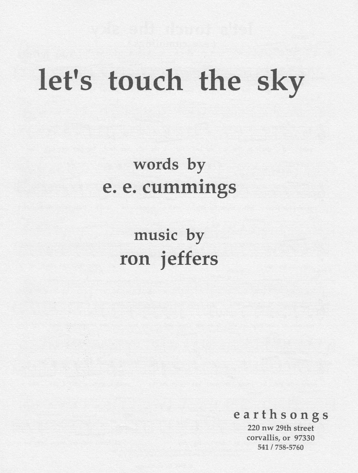 let's touch the sky (ssa)