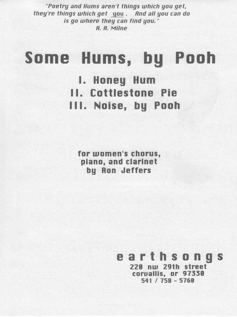 some hums, by pooh (ssa)