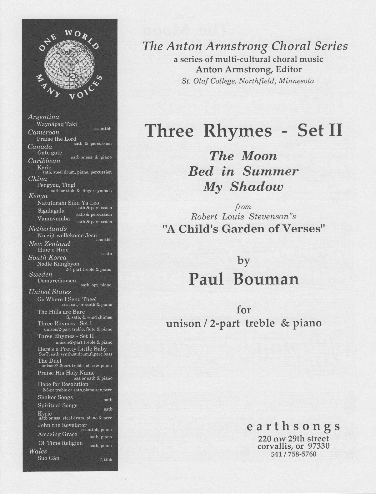 three rhymes - set 2 (2-pt treble)