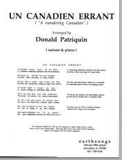 un canadien errant (unis) (pdf if ordered for entire choir)