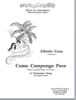 como compongo poco (4 equal) (pdf if ordered for entire choir)