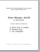three rhymes set III (pdf if ordered for entire choir)