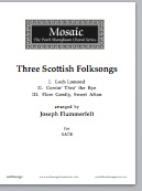three scottish folksongs (satb)