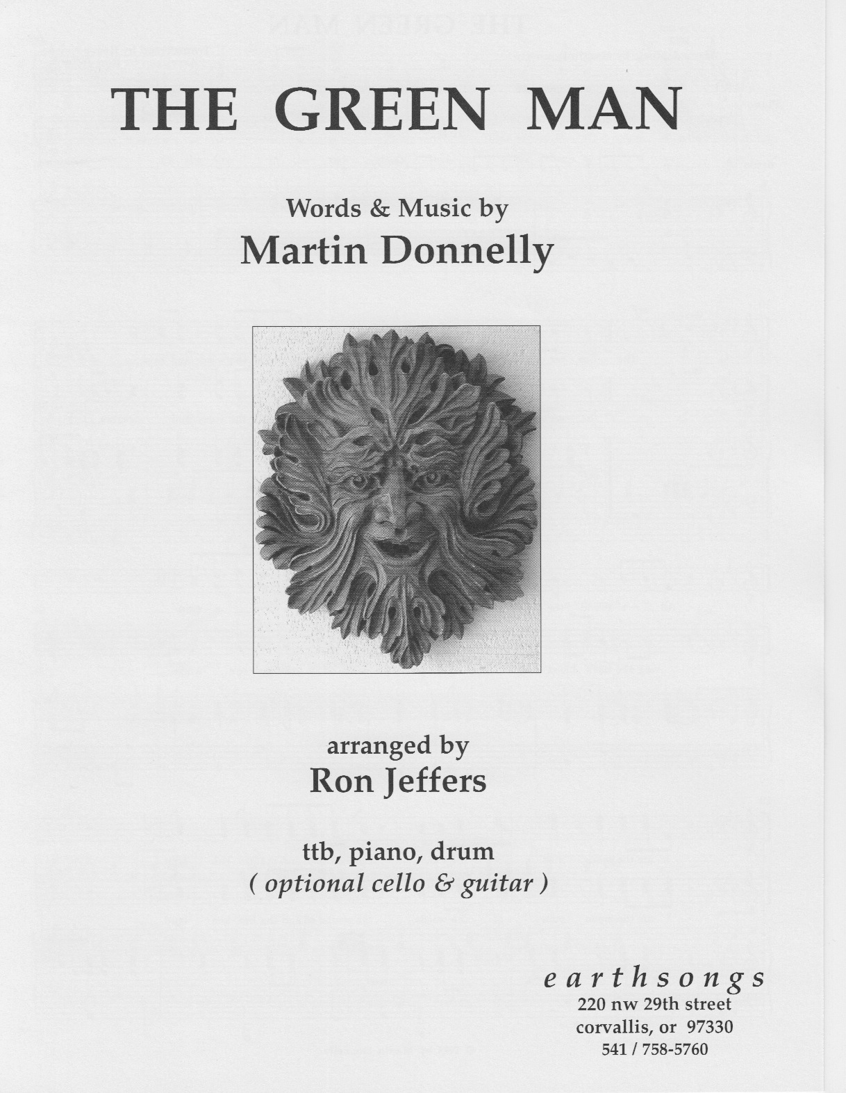 the green man (ttb) (pdf if ordered for entire choir)