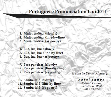 samba-lele pronunciation cd
