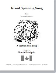 island spinning song (satb)