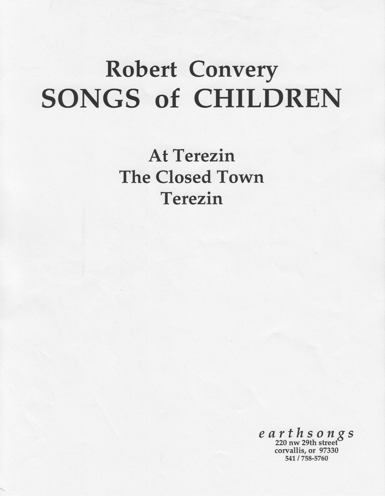 songs of children (full score)