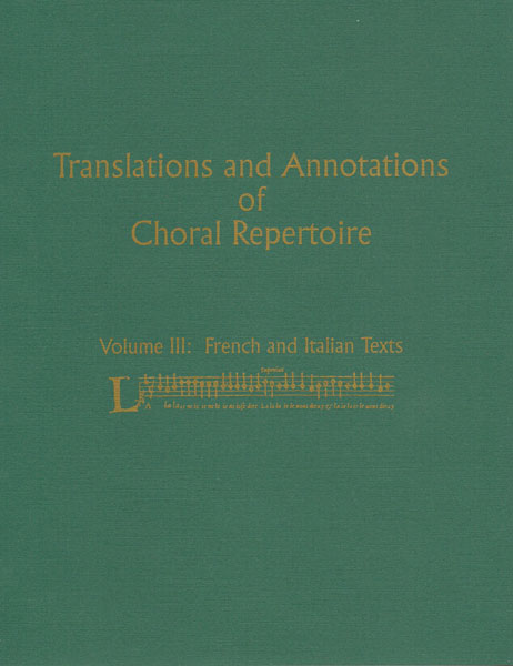 translations & annotations vol. 3 french & italian texts (soft)