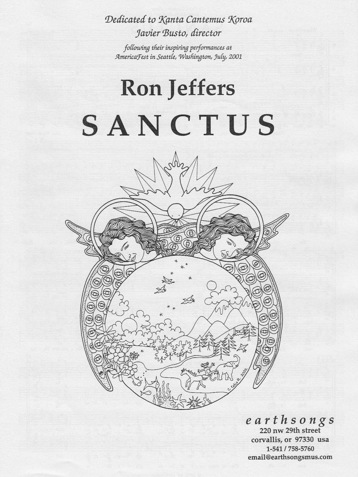 sanctus (ssaa) (pdf if ordered for entire choir)