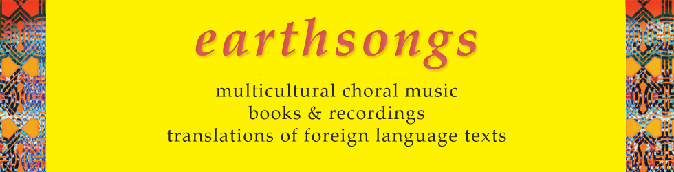 earthsongs, one world · many voices